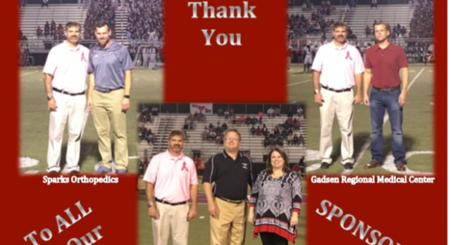 Local sponsors donate to the Titan Athletic Department