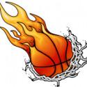 basketball flames
