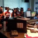 Cheerleaders at KISS FM