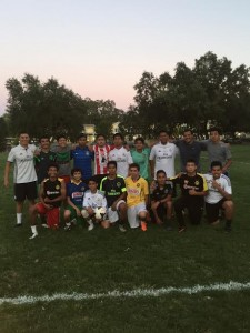 Calistoga High School Boys Soccer pictured on Jersey Day