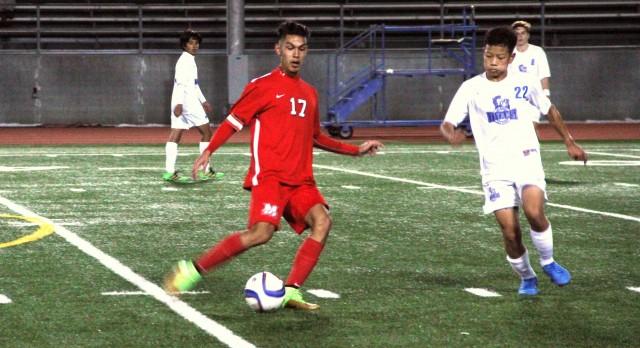 Maranatha High School Boys Varsity Soccer beat San Marino High School 5-3