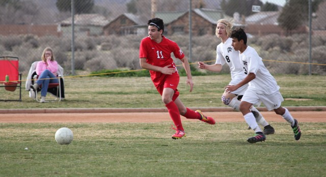 Maranatha High School Boys Varsity Soccer beat Granite Hills/Apple Valley High School 2-1