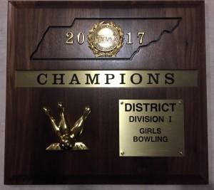 girls bowling district champs