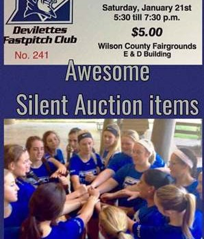 Softball Fundraiser January 21st at the Wilson County Fair Grounds