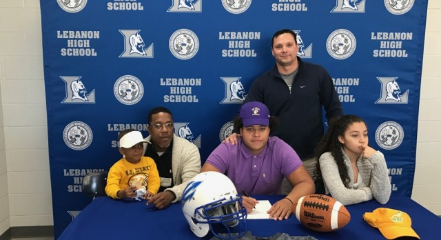 Jaden Moore signs with Bethel Football