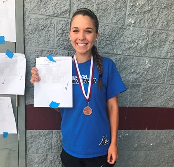 Congratulations Ashley Grimes- State Track and Field Qualifier