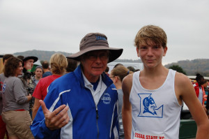 Aiden Britt and Coach Engle Cross Country