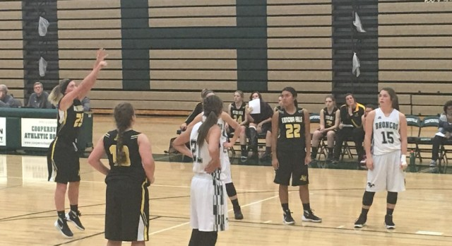 Kenowa Hills High School Girls Varsity Basketball falls to Coopersville High School 42-65