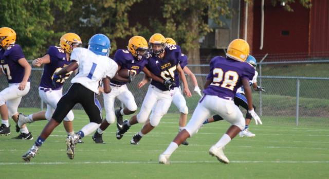 Jim Satterfield Middle School Varsity Football – MS beat Walter J. Baird 42-26