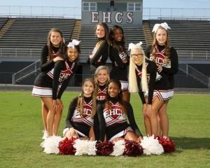 2015-2016 Varsity Football Cheerleaders