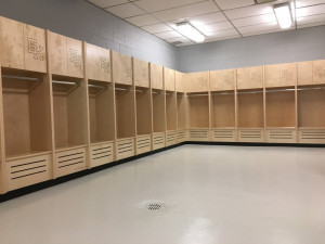 New Volleyball Lockers