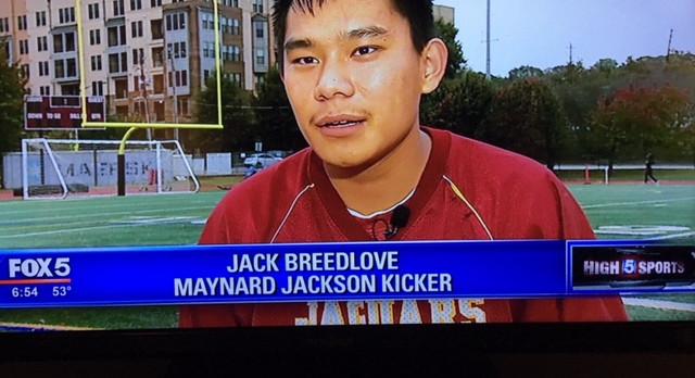 MJJ Varsity Football KIcker Jack Breedlove – Feature Story on Fox 5 News