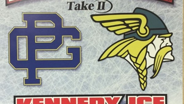 North vs South Hockey game poster