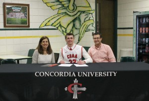 Mitchell Z with parents concorida cloth