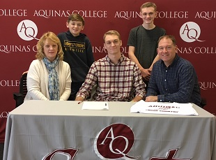 Josh Fischer signs with Aquinas College