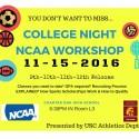 College nightnCAA workshop for posting