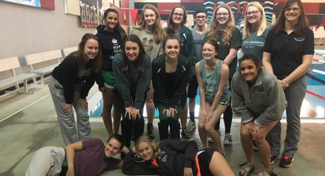 Girls Swim takes 2nd at the Lansing Swim Meet
