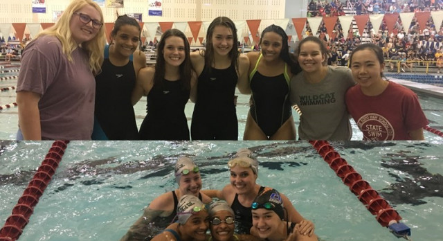 Girls Swim Season Concludes at State