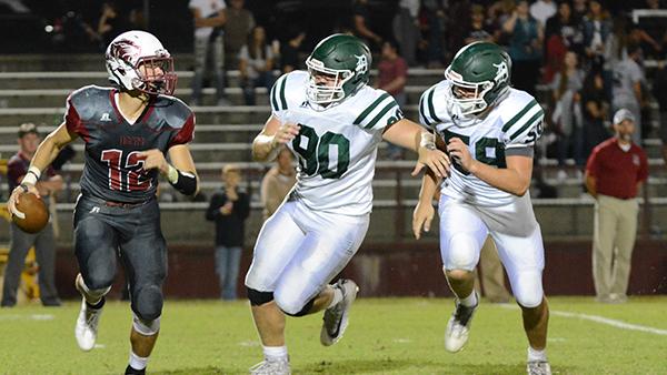 De Soto High School Varsity Football beat Nevada 55-14