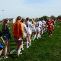 Girls JV Soccer vs Millard West 4-15-16
