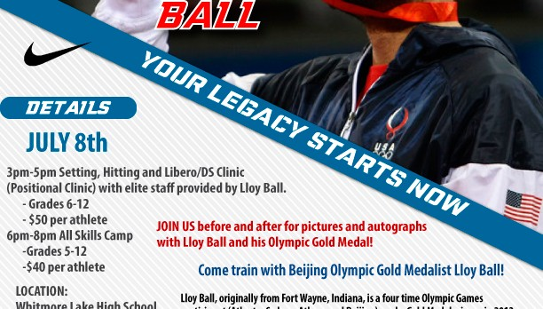 Volleyball Olympic Gold Medalist coming to Whitmore Lake