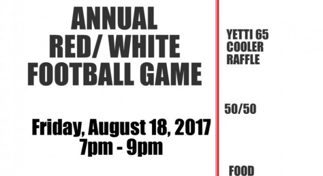 Annual Red and White game set or August 18th