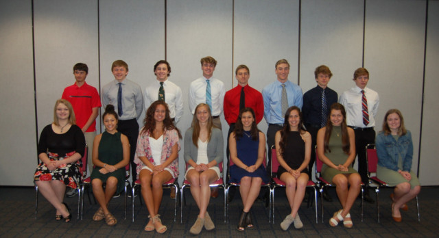 Huebner and DuVall Selected as Kiwanis Athletes of the Year