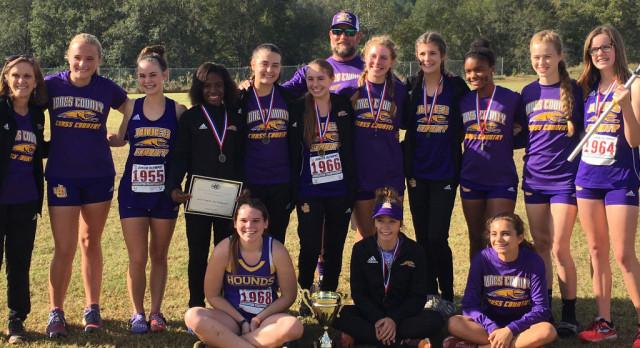 Girls Cross Country Wins Region