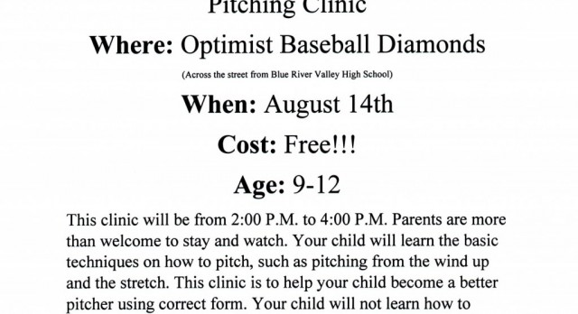 FREE BASEBALL PITCHING CLINIC