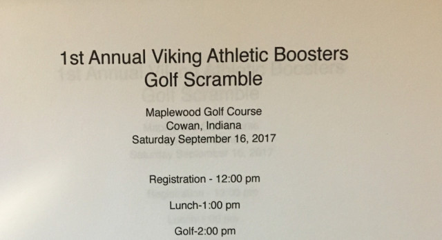 1st ANNUAL VIKING ATHLETIC BOOSTERS GOLF SCRAMBLE