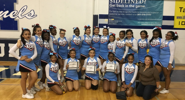 JV Cheer Wins Three Awards at JV Cheer Exhibition!