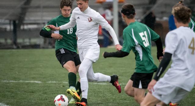 Maple Mountain High School Boys Varsity Soccer beat Payson High School 9-1