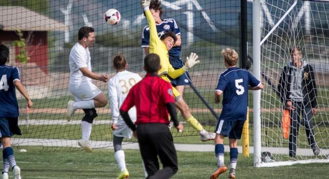Maple Mountain High School Boys Varsity Soccer falls to Woods Cross High School 2-1