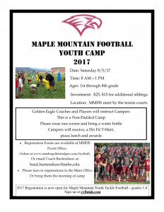 Youth Camp Flyer Handout