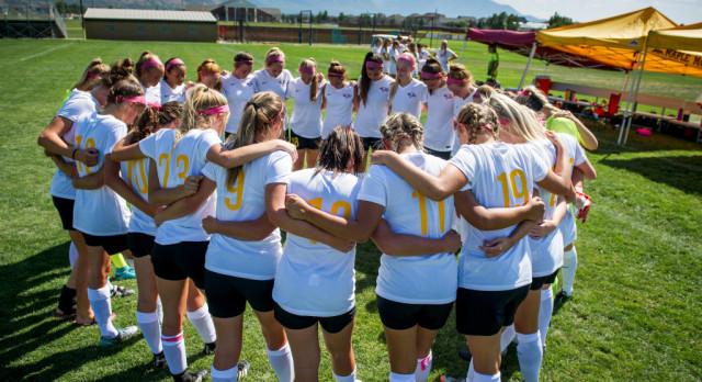 Maple Mountain High School Girls Varsity Soccer ties Timpanogos High School 2-2