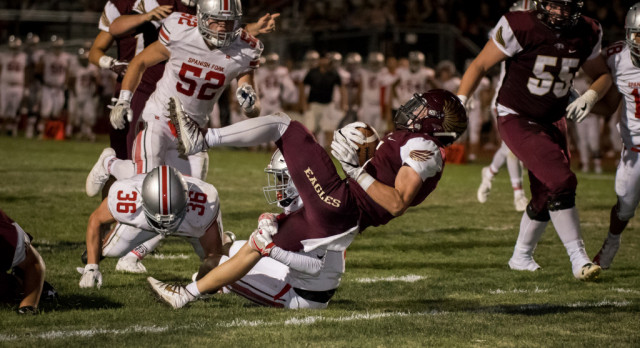 Maple Mountain High School Varsity Football falls to Spanish Fork High School 24-21