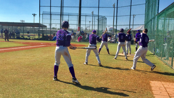 Purple Tiger hitters seen here preparing for action versus West Limestone (AL) in Gulf Shores this week.