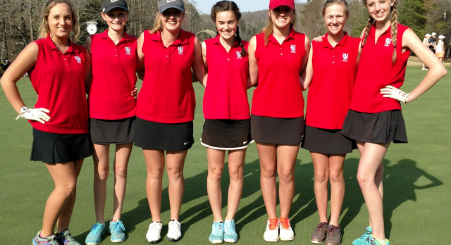 Vestavia Hills High School Girls Varsity Golf finishes 1st place