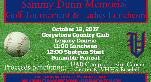 Sammy Dunn Memorial Golf Tournament & Ladies Luncheon Set For Oct. 12