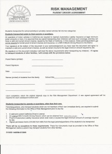 Parent Driver Form
