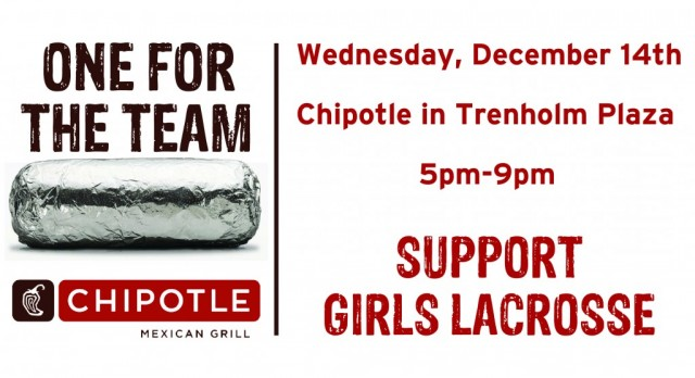 Support Girls Lacrosse at Chipotle Wednesday