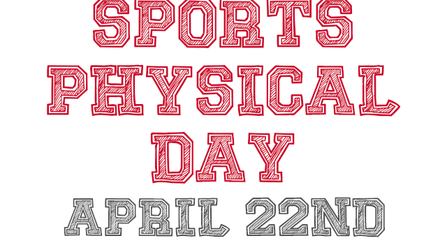 Sports Physical Day Is This Saturday