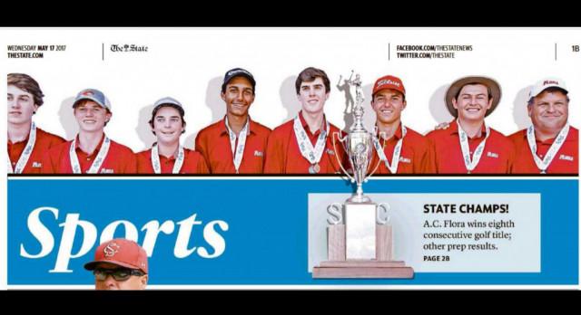 AC Flora High School Boys Golf Wins State Championship
