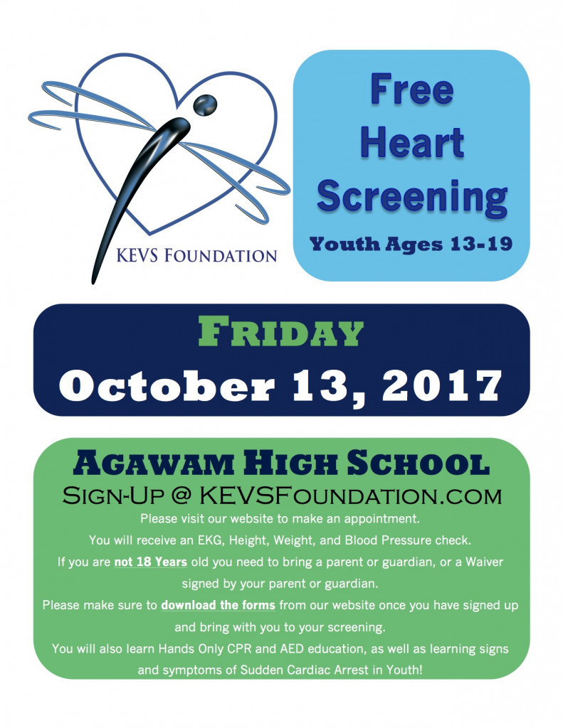Agawam Heart Screening Flyer