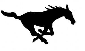 Mustang SMU silhouette