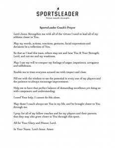 Coaches Prayer