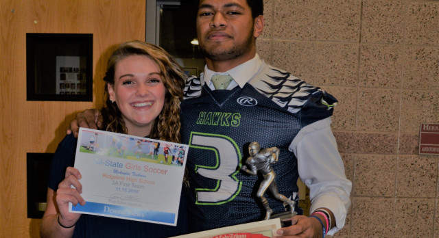 Makaylee Tenhoeve and Levani Damuni Recognized at All-State Banquet