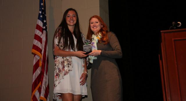 "Bailie Crosbie receives the ""HAWK"" OSPY Award"