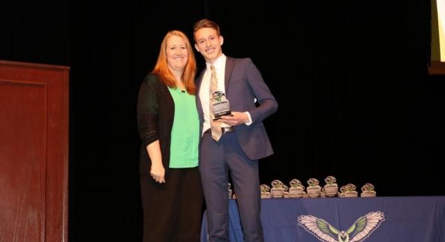 RHS Mentoring Excellence OSPY award goes to Spencer Hunsaker.
