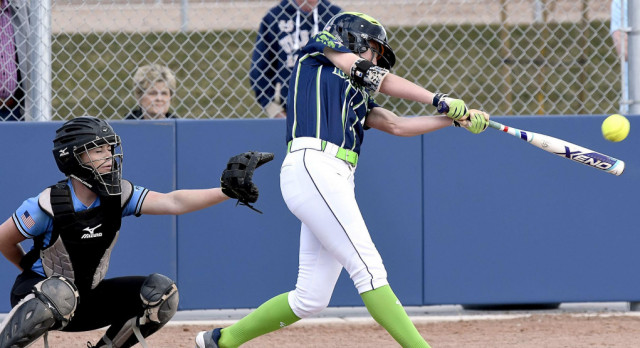 Awesome photos of our Softball team from our win against Sky View.